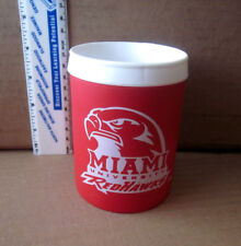 Miami Of Ohio University koolie beer koozie Redhawks logo Oxford party favor Og