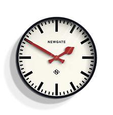 NEWGATE CLOCKS Large Black Red Gloss Round Modern Analogue Wall Clock 45cm