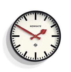 Large Black Kitchen Wall Clock, Modern Retro Railway Station Clock Newgate 45cm