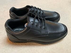 Treads Auckland men's formal 'tough' shoes   black   size 9   new