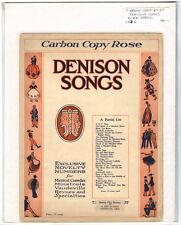 Rare Original VTG 1932 Carbon Copy Rose Denison Song Piano Sheet Music Print
