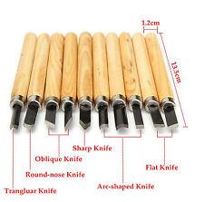 HAWK TZ7408A - Wood Carving Chisel Set 10 Piece High Carbon Steel Wooden Handle