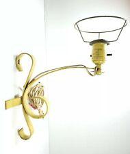 Antique Metal Iron Wall Lamp Leviton Worn Yellow Art Deco Vintage Rustic