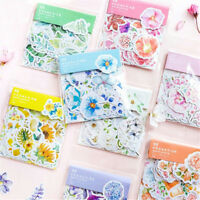 45PCS DIY Scrapbooking Flower Stickers Decor Stationery Supply Journal Diary