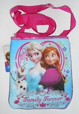 Purse Tote DISNEY FROZEN Blue Sparkle Anna Elsa Olaf Handbag Carry-All Bag