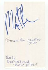 Diamond Rio - Marty Roe Signed 3x5 Index Card Autographed Signature Band
