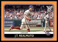 2020 Big League Base Orange #52 J.T. Realmuto - Philadelphia Phillies