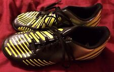 ADIDAS PREDITOR LX TURF SOCCER SHOES SIZE  5.5 Mens Astroturf Gray Yellow Indoor