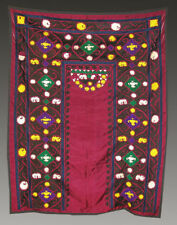 Uzbek Silk Hand Embroidered Suzani Joypysh # 3410