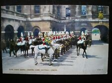 POSTCARD MILITARY  ROYAL HOUSE GUARDS CHANGING GUARD WHITEHALL LONDON