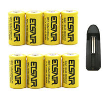 8pcs 16340 CR123A 3.7V 2800mAh Rechargeable Li-Ion Battery Batteries 1X charger