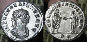 MORTOWN Aurelian Antoninianus CONCORDIA MILITUM FULLY SILVERED MINT STATE