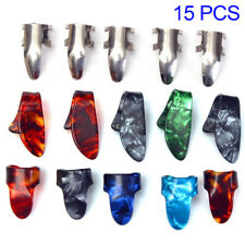Guitar 15pcs Plectrum Nail Picking Thumb Finger Picks Stainless Steel Celluloid