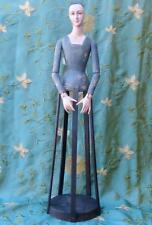 Vintage Style Beautiful Santos Angel Cage Doll 31 inches Wood Gray Dress New