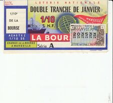"BILLET LOTERIE NATIONALE ""CHANGE BOURSE MARSEILLE* 1960 TIMBRE LOTERIE NATIONALE"