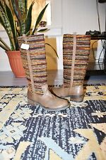 New $100 SBICCA Vintage Collection SANTA FE Riding Style Leather Boots 6.5 Taupe