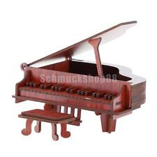 3D Wooden Piano Model Kit Puzzles Jigsaws Kids Children DIY Educational Toy