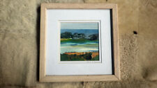 """Sheila Ehrman Landscape Collage - Signed Double Mat Wood Frame w Glass 11"""" x 11"""""""