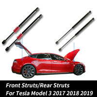 Automatic Front engine Lift Support/Pneumatic Rear Trunk Strut For Tesla Model 3