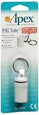 Apex Pill Tote Key Chain Container Waterproof Crush Proof Rubber O-Ring