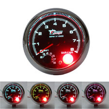 "12V Car Vehicle 3.75"" Inch RPM Tachometer Tacho Gauge With Shift Light 0-8000 US"