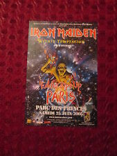 FLYER IRON MAIDEN NO CD DVD POSTCARD POSTER REKLAME PUBLICITE WITHIN TEMPTATION