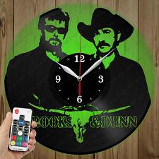 LED Vinyl Clock Brooks & Dunn LED Wall Art Decor Clock Original Gift 4294