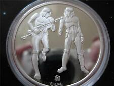 1- OZ.999 SILVER COIN STAR WARS LUKE SKYWALKER, IMPERIAL STORMTROOPERS+ GOLD