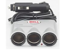 New listing Bell Accessories Automotive 22-1-39061-8 Silver Triple Socket with 4' Cord, New