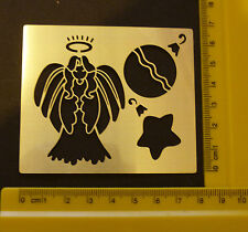 Brass/stencil/Oblong/Angel/Bauble/Star/Christmas/Embossing/emboss/NEW