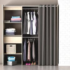 Kleiderschrank Chicago Garderobe Regal Schrank Sonoma eiche mit Vorhang