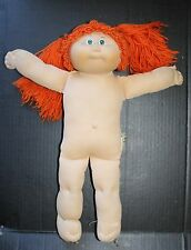 Cabbage Patch Kid Girl Doll Vtg Jesmar Spain Red Hair Pigtails Green Eyes 1985
