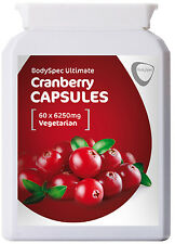Cranberry Extract Capsules, 60x 6250mg - RRP: £11.95 - 60% Off Sale !