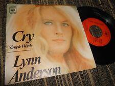 "LYNN ANDERSON LLORA/SIMPLES PALABRAS 7"" 1972 CBS SPAIN"