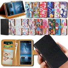 Flip Leather Smart Stand Wallet Cover Case For Various Nokia Asha SmartPhones
