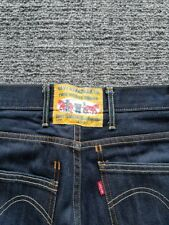 Men's Levi's 506 Standard Blue Denim 'Two Horse Brand' Jeans Size W34 L32