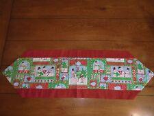 Christmas Table Runner - Snowmen, Joy Cardinals & Trees