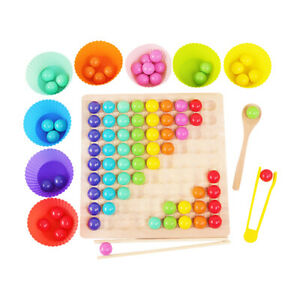 Wooden Go Games Set Dots Shuttle Beads Game Ball Toy Early Education Puzzle GR