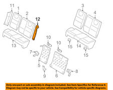 FORD OEM 08-11 Focus Rear Seat-Bolster Left 8S4Z5466893AA