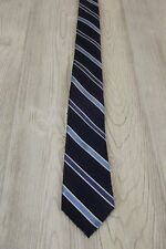 NEW $49 Express Mens Tie Narrow 100% Silk Tie Skinny Dress White Navy Blue