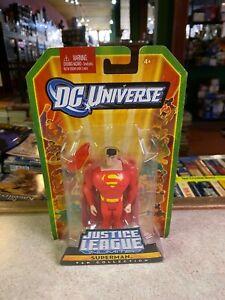 "Mattel DC Universe 4"" Figure NIP Justice League Unlimited SUPERMAN N7238 red (4)"