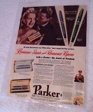 Antique Original Parker Vacumatic Set Fountain Pen Paper Ad (R.# A284)