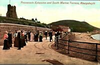 Promenade Extension South Marine Terrace Aberystwyth postcard antique Wales