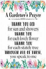Gardener's Prayer Sign Garden Sign Gardening Quote Home Decor 8x12 Metal Sign