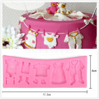 3D Clothes Silicone Fondant Mould Cake Decorating Chocolate Baking Mold Tool