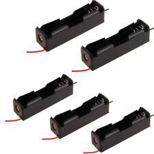 5x Porta batterie 1x18650 stilo batteria case holder contenitore con Filo Nero