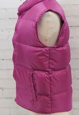 Lands' End Down Fill Winter Quilted Vest Jacket Pink/Mauve Women's Medium 10-12
