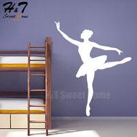 Dancing Girl Ballerina Ballet Dancer Vinyl Wall Decal Sticker Bedroom Nursery