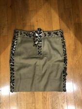 YSL YVES SAINT LAURENT TOM FORD MOMBASA LEOPARD LACE UP COTTON SKIRT 36 AS-IS