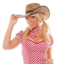 Straw Cowgirl Hat Cowboy Old West Country Rancher Farmer Rodeo Costume 9933H